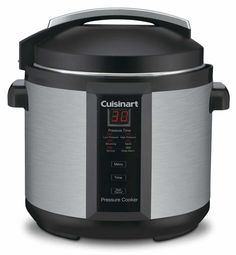 The Cuisinart Pressure Cooker Model: is a Cuisinart classic! Our brushed stainless pressure cooker is safe, easy to use, cooks up to faster than conventional methods and cooks healthier, too. The Cuisinart Pressure Cooker is an excellent buy Cuisinart Electric Pressure Cooker, Electric Pressure Cooker Reviews, 6 Quart Pressure Cooker, Pressure Cooker Recipes, Pressure Cooking, Slow Cooker, Cuisinart Rice Cooker, Electric Cookers, Oven Cooker