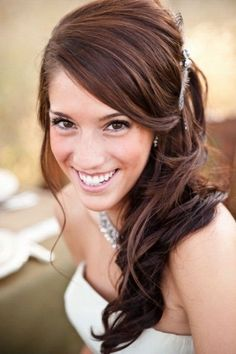 44 idées d'un modèle coiffure de mariée avec frange
