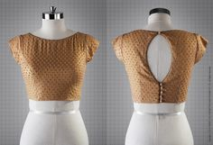 Golden Blouse/ Bustier | TheSilk