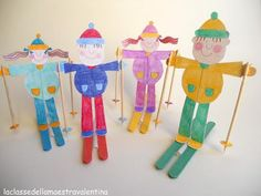 paper skiers with popsicle stick skis