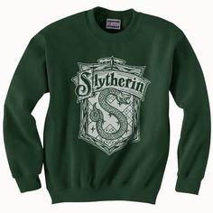 Slytherin Crest B/W Unisex Crewneck Sweatshirt PA Crest Adult - Hogwarts Mode Harry Potter, Estilo Harry Potter, Harry Potter Merchandise, Harry Potter Style, Harry Potter Outfits, Slytherin Clothes, Slytherin Hoodie, Harry Potter Sweatshirt, Slytherin Pride