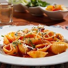 Jumbo Shells with Traditional Sauce, Pancetta and Parmigiano Cheese Allrecipes.com