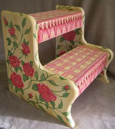 Children's Step Stool hand painted furniture by GlendaOkiev, offered at two hundred eighty