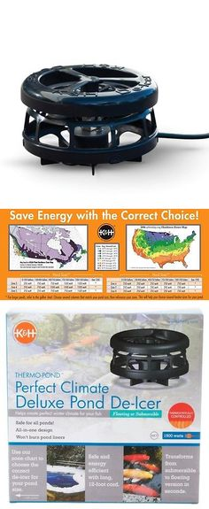K&H Pet Thermo-Pond Perfect Climate Deluxe Pond De-Icer 1500 watt for sale online Fish Pond Supplies, One Design, Save Energy, Ebay