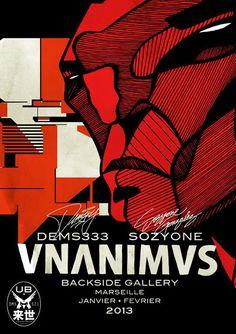"""Sozyone Gonzales / Dems333 - """"VNANIMVS"""" @ Backside Gallery - 17/01/2013-21/02/2013"""