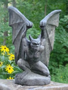 Gargoyle tattoo on pinterest garden statues statue and for Garden accessories canada