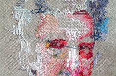 YOLANDA ANDRÉS. EMBROIDERY. TEXTIL ART