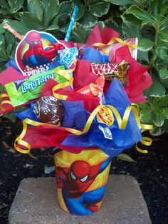 Spiderman Kids Candy Party Favors Made to by Lynns Candy Creations