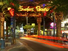 Surfers Paradise, Australia. Our apartment was the one to the right of this sign!