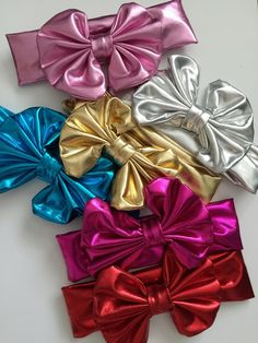Metallic Floppy Headbands http://www.rosiecouturecollection.net/kids/metallic-floppy-headbands