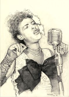 Billie Holiday by Sebastian Kruger