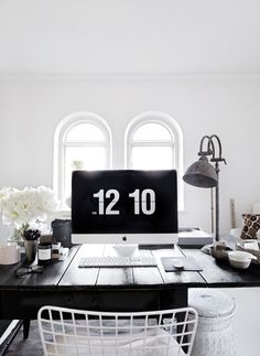 black + whitey desk