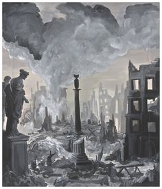 Ozbolt Monument (Dresden), 2008  Acrylic on icon board  70 x 59.5 cm / 27 1/2 x 23 3/8 in