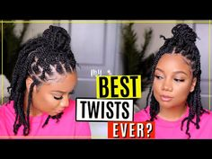 SHOULDER LENGTH TWIST? 😍 YESSS! 4B/4C HAIR APPROVED | Outre X-Pression Twisted Up Springy Afro Twist - YouTube Marley Twist Hairstyles, Big Box Braids Hairstyles, Protective Hairstyles For Natural Hair, Natural Hair Braids, Braided Hairstyles, Afro Kinky Twists, Afro Twist Braid, Twist Curls, Short Hair Lengths