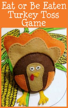 Eat or Be Eaten Turkey Toss Game- Lots of fun ways to play!