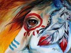 Native American War Horses | War Horse F1 - Horses & Animals Background Wallpapers on Desktop Nexus ...