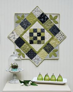 Spring Topper very effective, make your block then add some triangles to make this cute design