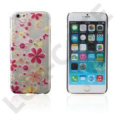 """Boye (Färgglada Blommor) iPhone 6 Skal  Blomstrande, glittrande mobilskal till Apple iPhone 6 (4.7"""") med bling-bling och massvis av färgglada blommor."""
