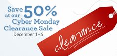 IEW Cyber Monday Clearance Sale 2014 (Dec. 1-5) - 50% off clearance items! #CyberMonday