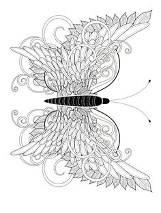 Nice and perfect butterfly found just for u, To colour in or just keep it like that