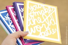 """""""Better World"""" Greeting Cards made with Silhouette"""