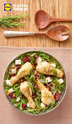 Podudzia z kurczaka w cytrynie z sałatką z buraków i fety. Kuchnia Lidla - Lidl Polska #okrasa #kurczak
