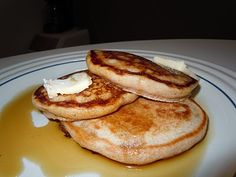 Perfect Pancakes by Isa Chandra Moskiwitz's Vegan Brunch book...light, fluffy, perfect!  You will be amazed!!!