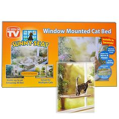 Window Mounted Cat Bed -- Click image for more details.(This is an Amazon affiliate link and I receive a commission for the sales)