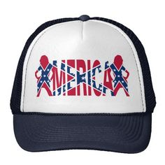 Merica with confederate flag mesh hats patriotic redneck merica america confederate flag caps available from http://www.zazzle.com/merica_with_confederate_flag_mesh_hats-148693487629834664?rf=238779474269366062