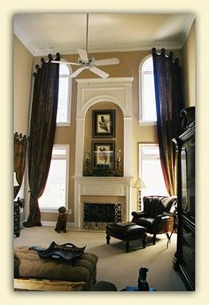 High Ceilings Drapes On Pinterest Drapery Panels Tall