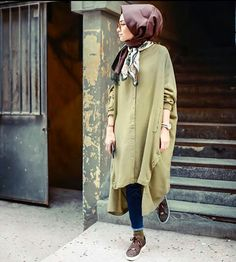 Stunning Button Front Tunic Outfit Ideas for Hijabies – Girls Hijab Style & Hijab Fashion Ideas Modest Wear, Modest Dresses, Modest Outfits, Chic Outfits, Fashion Outfits, Fashion Ideas, Street Hijab Fashion, Muslim Fashion, Modest Fashion