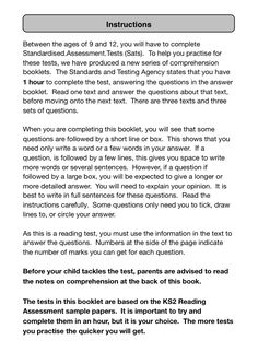 Space Reading Answer Test 1