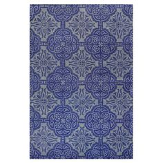 Bashian Rugs Chelsea Blue Floral Sun Rug
