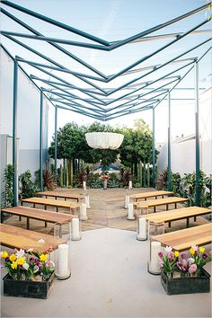 Garden wedding ideas at a trendy new LA Venue. Captured By: Tammy Horton Photography #weddingchicks http://www.weddingchicks.com/2014/07/18/fresh-garden-wedding/