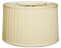 Royal Designs Shallow Drum Side Pleat Basic Lamp Shade, Eggshell, 17 x 18 x 11.5 -- Visit the image link more details. (This is an affiliate link and I receive a commission for the sales)