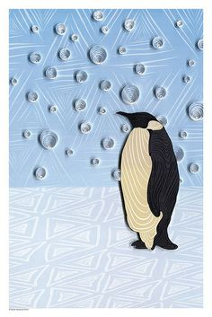 Penguin Poster by all things paper, via Flickr