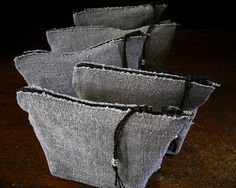 Little Linen Ditty Bag 7 x 3.5 x 2 inch vintage by KathyVanKleeck