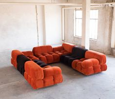 'Camaleonda' Modular Sofas by Mario Bellini | From a unique collection of antique and modern sectional sofas at https://www.1stdibs.com/furniture/seating/sectional-sofas/