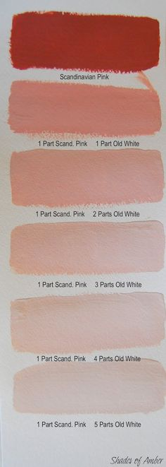 Shades of Amber: Chalk Paint Color Theory - Scandinavian Pink