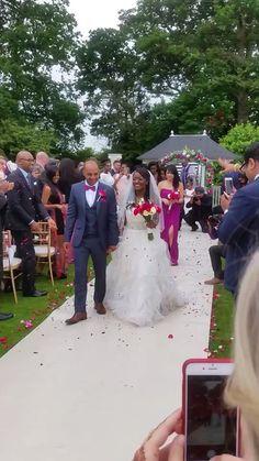 Outdoor raspberry wedding