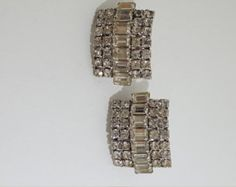 Signed Weiss Vintage Clear Rhinestone Clip On Earrings - Vintage Weiss Rhinestone Earrings - Costume Jewelry - Fashion Jewelry - 1950 Era - Edit Listing - Etsy