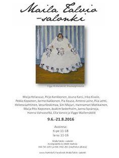 by itu: Maila Talvio Salongin kesänäyttley 2016 avajaiset