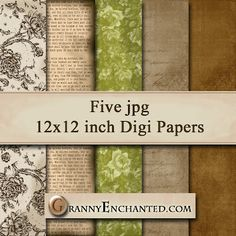 FREE VINTAGE DIGI SCRAPBOOK PAPER PACK ***Join 1,730 people. Follow our Free Digital Scrapbook Board. New Freebies every day.