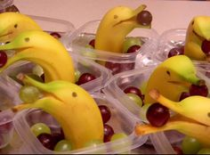 """Banana Dolphins for my toddler class, """"Snack Day"""""""