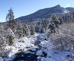 Winter in Sinks Canyon, outside my hometown of Lander, Wyoming