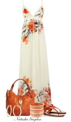 A fashion look from July 2013 featuring floral print maxi dress, white flat shoes and pocket purse. Browse and shop related looks. Looks Cool, Looks Style, Style Me, Look Fashion, Fashion Beauty, Womens Fashion, Cheap Fashion, Fashion Fashion, Fashion News