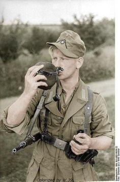 German Soldier in tropical uniform, Crimea-Ukraine, summer 1943 - pin by Paolo Marzioli