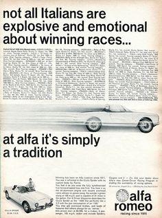 1965 Alfa Romeo Giulia Spider Advertisement Road & Track June 1965 | Flickr - Photo Sharing!