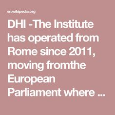 DHI -The Institute has operated from Rome since 2011, moving fromthe European Parliament where it had operated since its founding in 2008. Since July 2010, Cardinal Renato Raffaele Martino, former President of the Pontifical Council for Justice and Peace, has held the position of Honorary President.  In February 2013, Cardinal Martino confirmed the appointment of Luca Volontè as Chairman of the Institute. Formerly a member of the Italian Parliament from 1996 to 2013 and Pre...