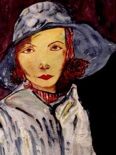 33-Arte Exquisito. Greta Garbo en lluvia.